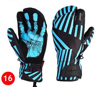 Чоловічі гірськолижні трипалі рукавички Boodun чорний