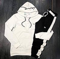 Мужской спортивный костюм LACOSTE D9229 бело-черный