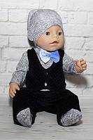Одежда для мальчика куклы беби борн - Костюм «Крутой малыш»