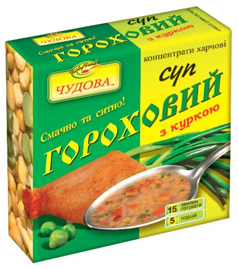 """Суп гороховий зі смаком курки """"Чудова"""" брикет 160 гр"""