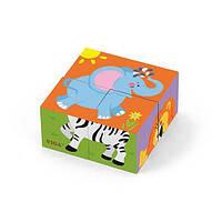 """✅ Пазл-кубики Viga Toys """"Сафари"""" (50836)"""