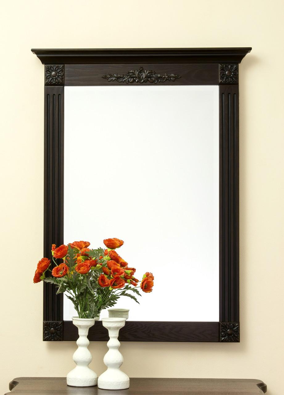 Код М-003.3. Зеркало в деревянной раме с резьбой