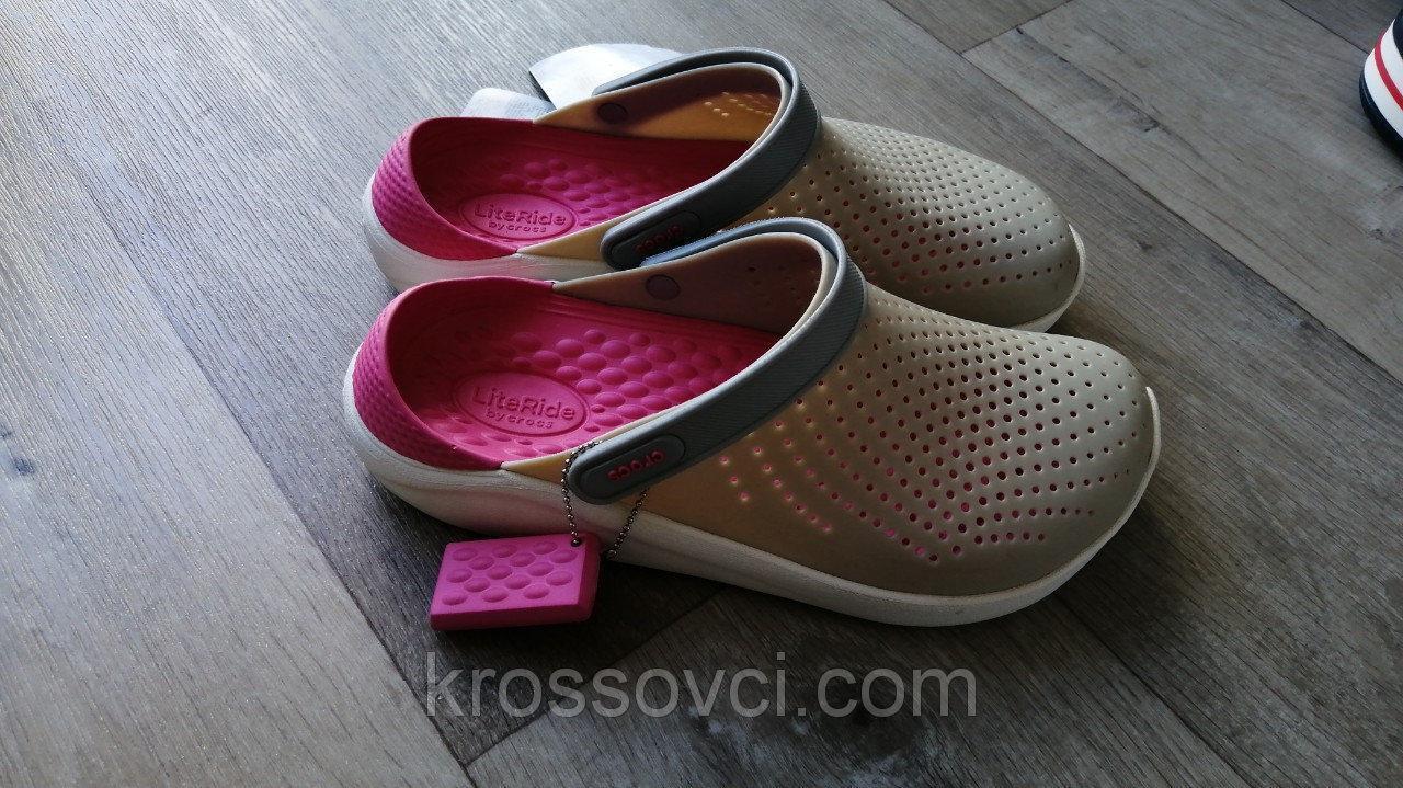 Кроксы летние Crocs LiteRide™ Clog серые 38 разм.