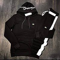 Мужской спортивный костюм LACOSTE D9230 черный