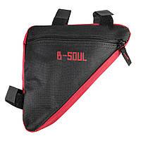 Сумка B-Soul в раму велосипеда треугольная красная