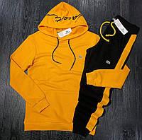 Мужской спортивный костюм LACOSTE D9231 оранжево-черный