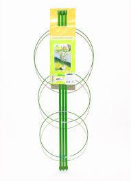 Металлическая поддержка для растений с 3-мя кольцами h-75см