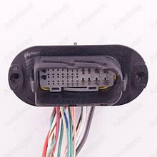 Разъем автомобильный 29-pin/контактный. Папа. 51×25 mm. Б.У