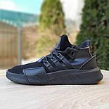 Мужские кроссовки Adidas Originals EQT Bask ADV черные на черной 41-45р. Живое фото. Реплика, фото 4