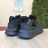 Мужские кроссовки Adidas Originals EQT Bask ADV черные на черной 41-45р. Живое фото. Реплика, фото 5