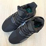 Мужские кроссовки Adidas Originals EQT Bask ADV черные на черной 41-45р. Живое фото. Реплика, фото 6