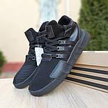 Мужские кроссовки Adidas Originals EQT Bask ADV черные на черной 41-45р. Живое фото. Реплика, фото 8
