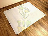 Захисний килимок під крісло з полікарбонату Tip-Top™ 0,8 мм 1000*1250мм Прозорий (закруглені краї), фото 5