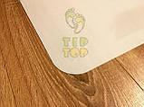Захисний килимок під крісло з полікарбонату Tip-Top™ 0,8 мм 1000*1250мм Прозорий (закруглені краї), фото 6