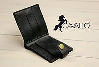 Мужской кошелек из натуральной кожи с монетницей Cavallo™ Classic, черный, фото 1