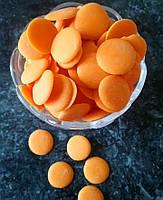 Глазурь шоколадная кондитерская оранжевая 500 гр