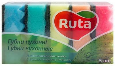 """Губка кухонна """"Ruta""""хвиляста поверхня - 5 шт."""