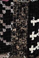 Женский натуральный шарф из меха рекса