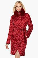 """Женский теплый воздуховик ярко-красного цвета на зиму модель Braggart """"Angels Fluff"""""""