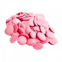 Глазурь шоколадная розовая клубничная 500 гр