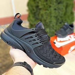 Мужские кроссовки Nike Air Presto черные клетка. Живое фото. Реплика