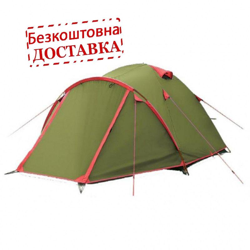 Палатка туристическа трехместная двухслойная Tramp Lite Camp 3  (TLT-007.06)