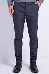 Штани чоловічі Finn Flare A17-21028-101 крою slim темно-сині