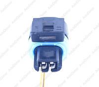 Разъем автомобильный 2-pin/контактный. Мама. 10×6 mm. Б.У