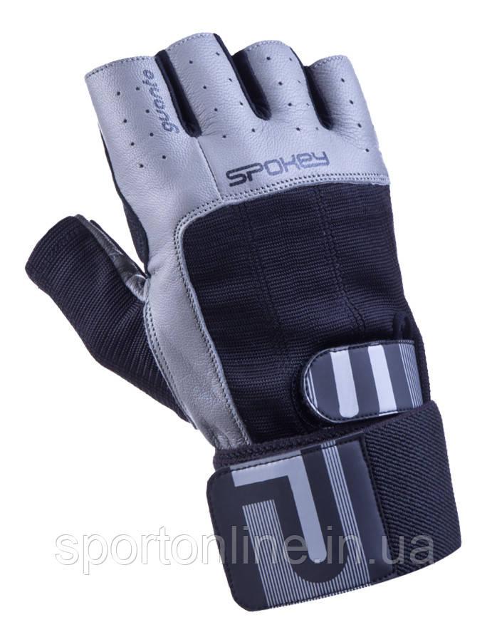 Мужские спортивные перчатки Spokey Guanto II черные с серым