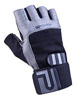 Мужские спортивные перчатки Spokey Guanto II черные с серым, фото 1