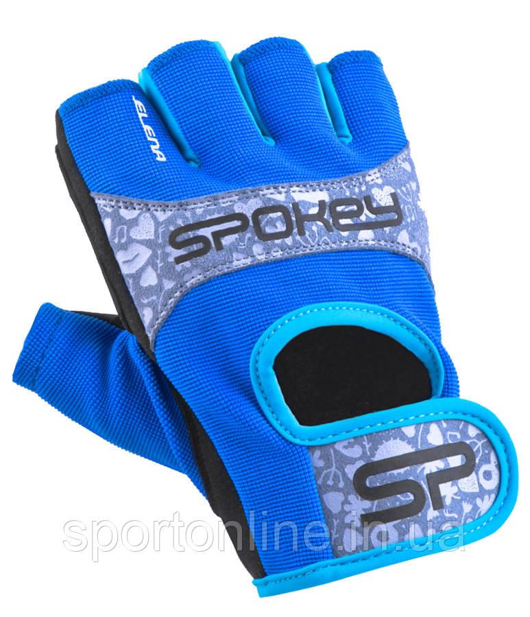 Перчатки спортивные велоперчатки женские Spokey ELENA II 921310 синие M
