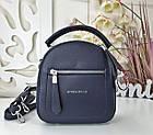 Женская сумка-клатч синего цвета, эко кожа, фото 3