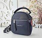Женская сумка-клатч синего цвета, эко кожа, фото 4