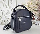 Женская сумка-клатч синего цвета, эко кожа, фото 5