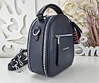 Женская сумка-клатч синего цвета, эко кожа, фото 6