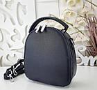 Женская сумка-клатч синего цвета, эко кожа, фото 7