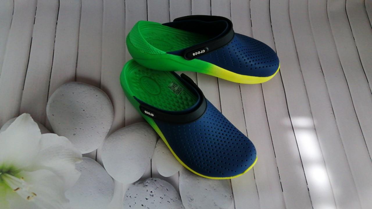 Кроксы летние Crocs LiteRide™ Clog синие 44 разм.