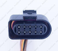 Разъем автомобильный 10-pin/контактный. Мама. 47×27 mm. Б.У