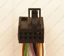 Разъем автомобильный 10-pin/контактный. Мама. 14×11 mm. Б.У