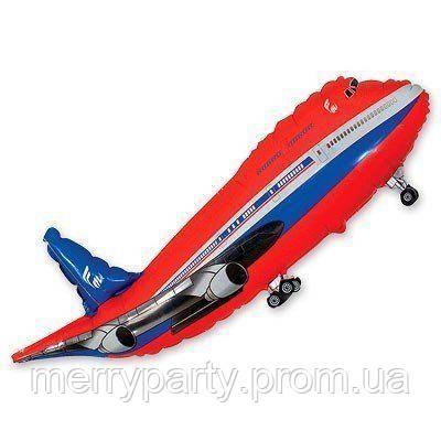 Літак Боїнг червоний (100х52 см) Flexmetal Іспанія фольгований куля