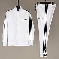 Мужской спортивный костюм ADIDAS белого цвета (реплика)