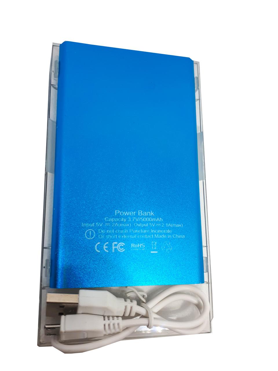Power Bank Abeer 5000mAh голубой