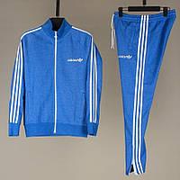 Мужской спортивный костюм ADIDAS синего цвета (реплика)