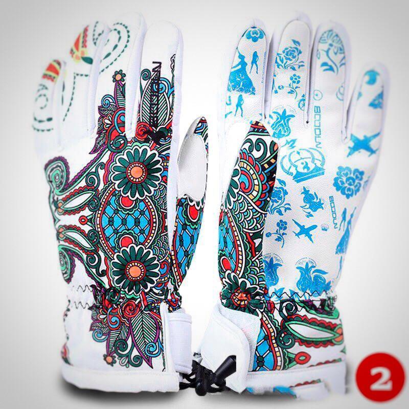 Женские горнолыжные перчатки BOODUN белый