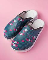 Медицинская обувь сабо Heart gray, фото 1