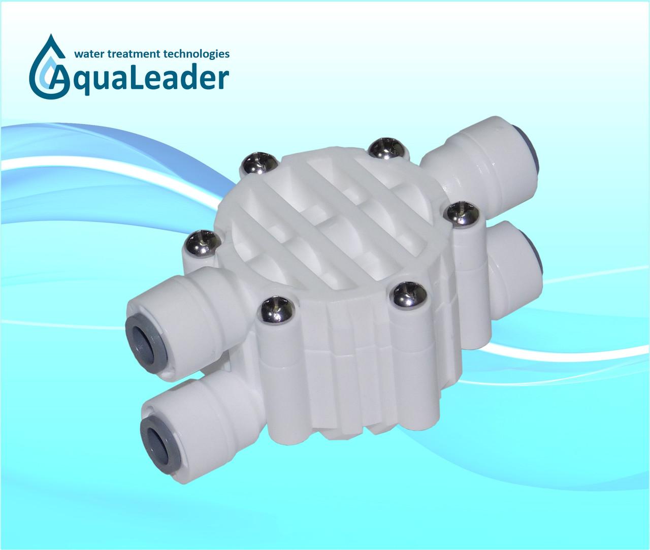 4-х ходовой клапан для системы обратного осмоса