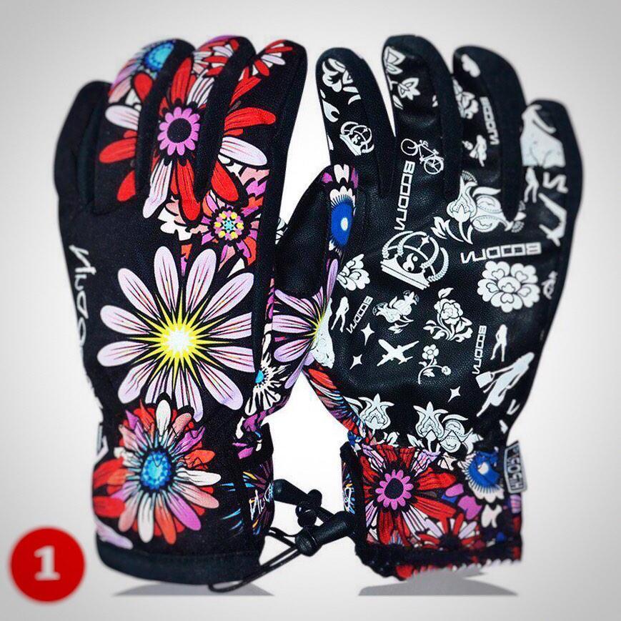 Женские горнолыжные перчатки BOODUN черный