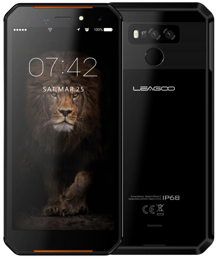 Leagoo XRover C black IP68, NFC