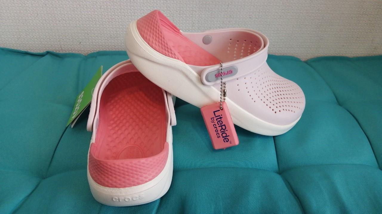 Кроксы летние Crocs LiteRide™ Clog пудровые 38 разм.