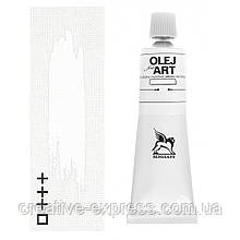 Фарба олійна, Білила цинкові, 60мл, Renesans